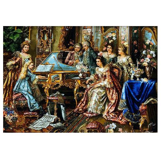 تابلو فرش دستباف پیانو زن