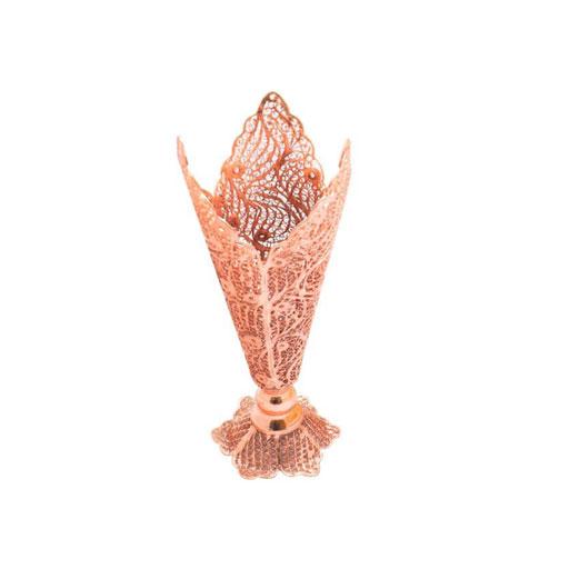 گلدان مسی مدل ملیله کاری کد 455
