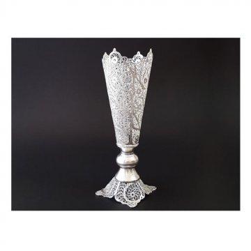 گلدان مسی مدل ملیله