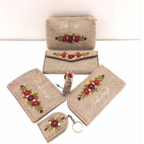 کیف نمدی زنانه گلدوزی شده