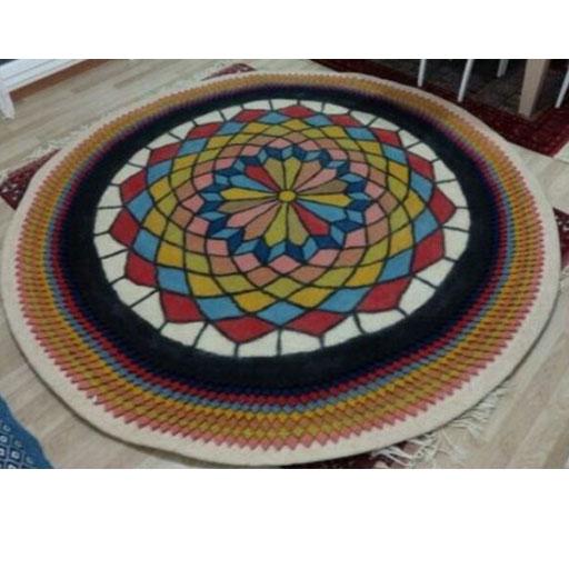 فرش گرد نمدی سنتی