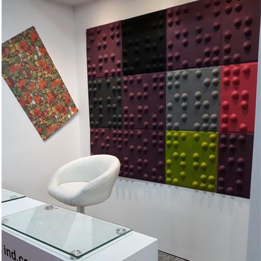 دیوار پوش سه بعدی طرح کروی
